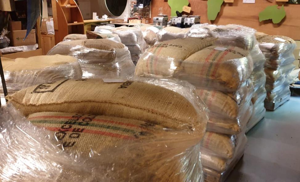 Verse groene bonen uit Colombia en Brazilië