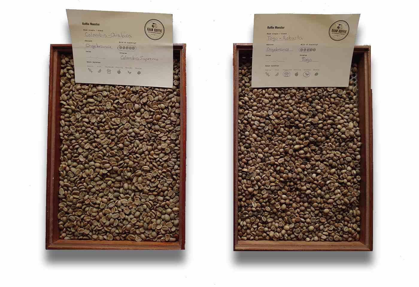 Wat is het verschil tussen Arabica koffiebonen en Robusta koffiebonen?