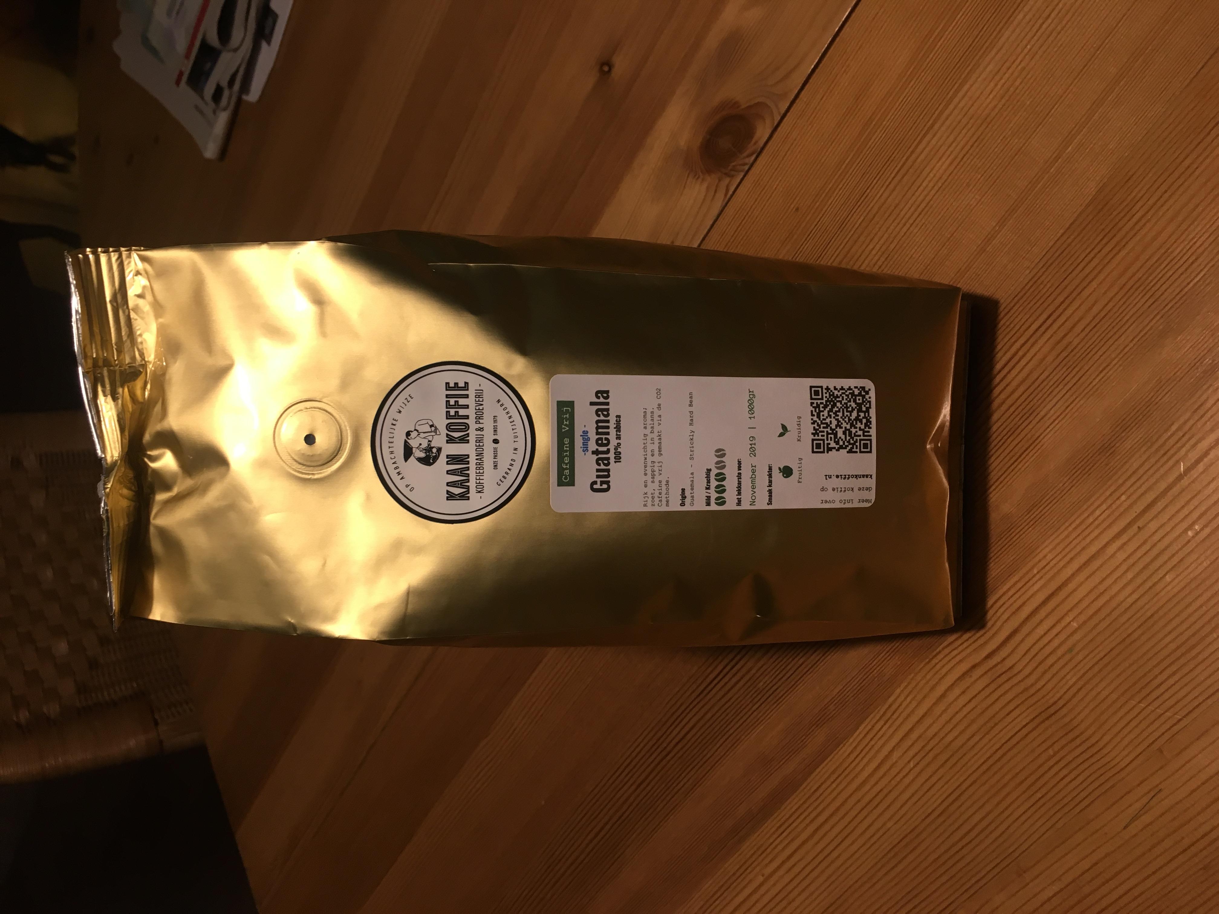 Koffie zakjes in een nieuw jasje
