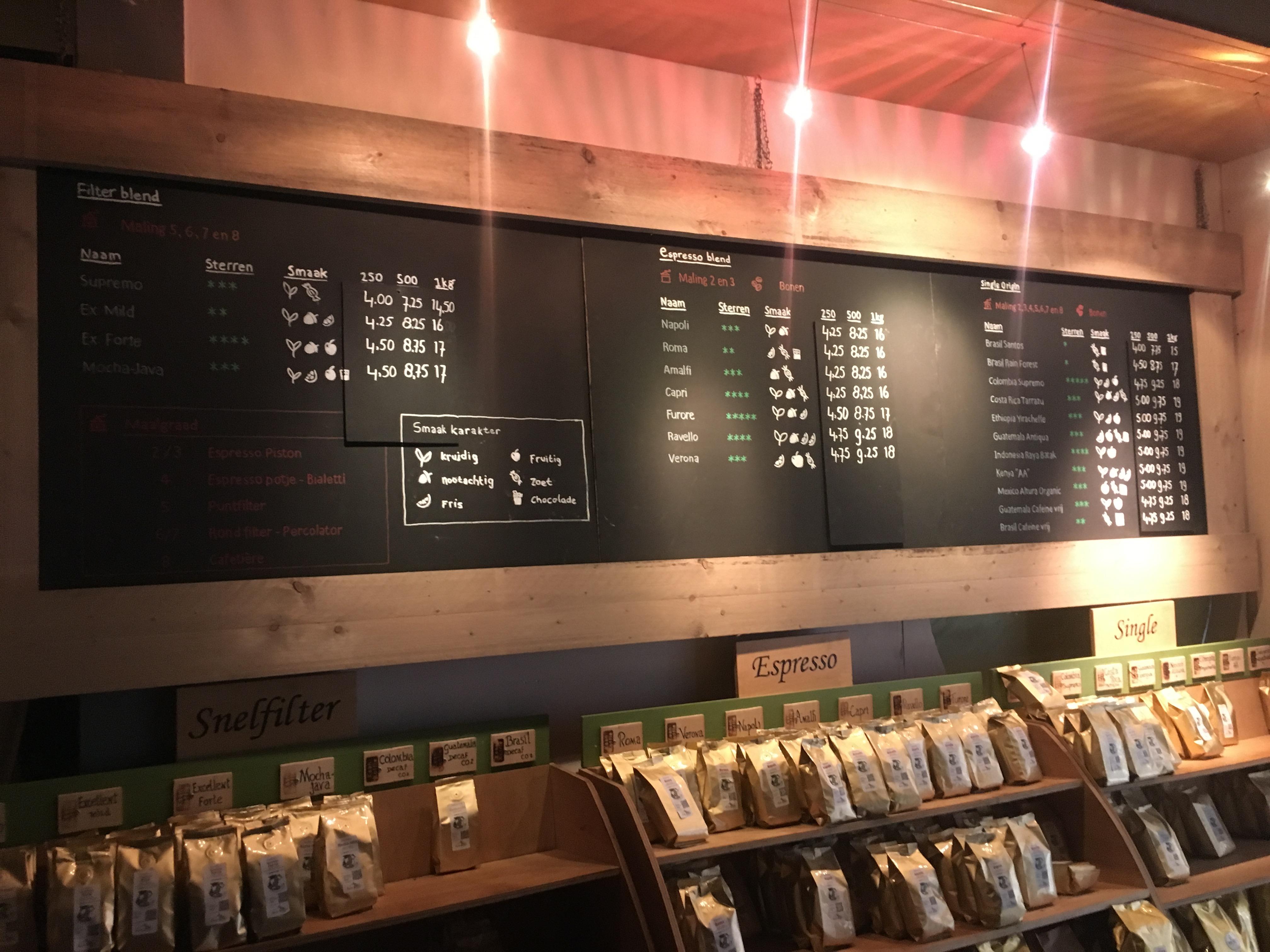 Nieuwe smaak kenmerken toegevoegd aan de koffie menukaart