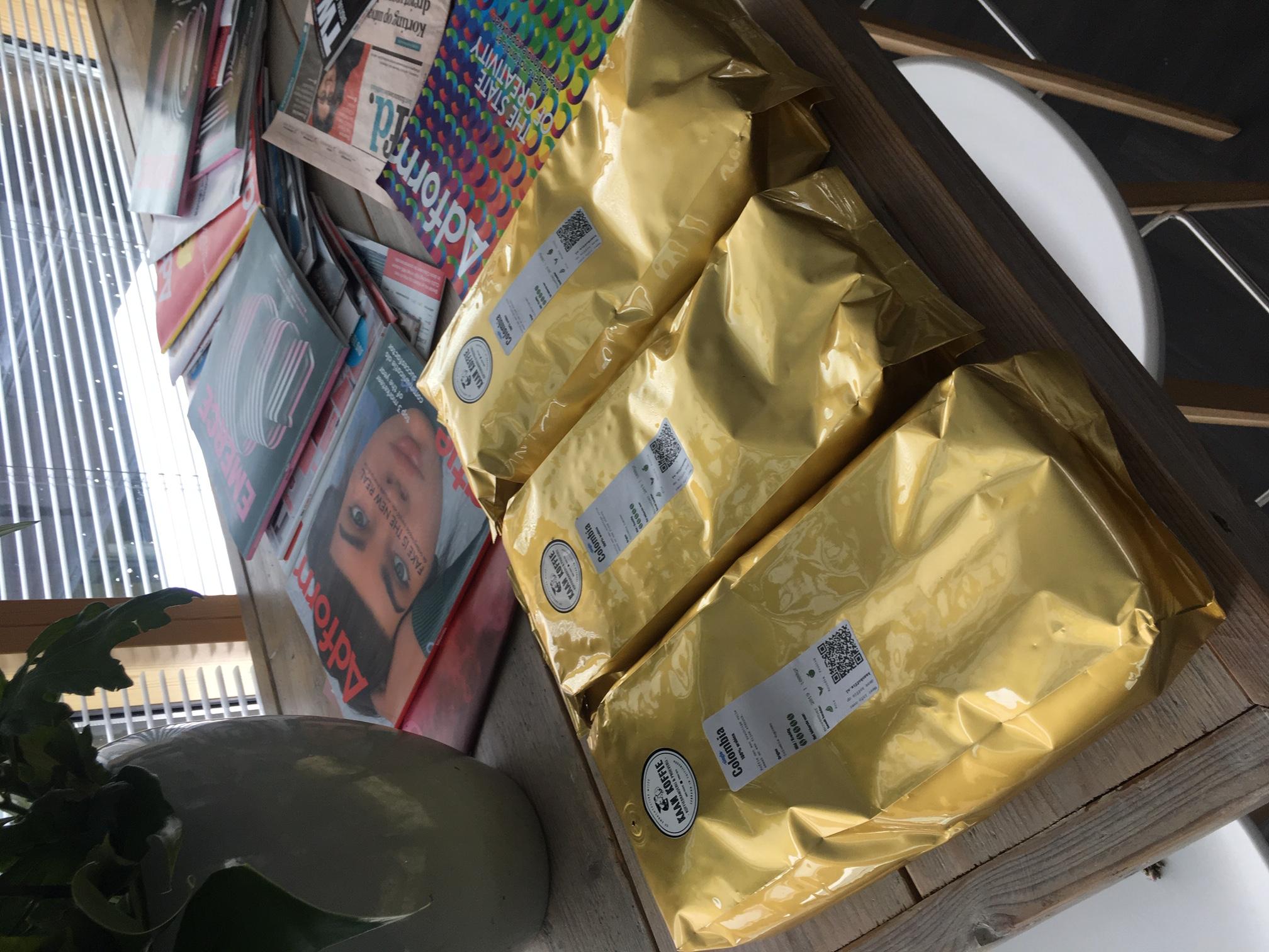 De eerste nieuwe zakken bij de klant
