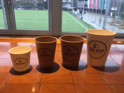 Lekkere koffie in de vernieuwde keuken van de Amsterdamse Hockey & Bandy Club