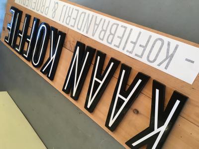 De letters zijn er klaar voor!
